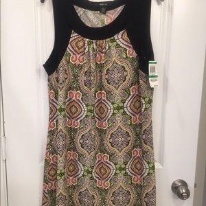 Style & Co Sleeveless Paisley Dress